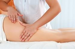 Проведение массажа от целлюлита
