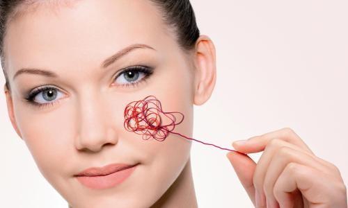 Проявление купероза на лице
