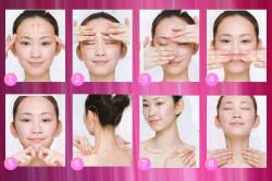 Схема китайского массажа лица