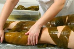 Процедура обертывания водорослями