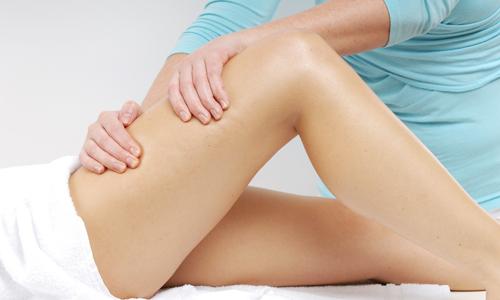Сеанс лимфодренажного массажа ног