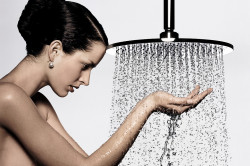 Горячий душ перед обертыванием