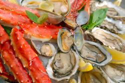Морепродукты - еда для СПА процедуры