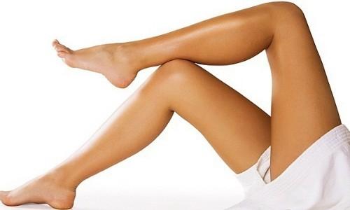 Гладкие ножки после шугаринга