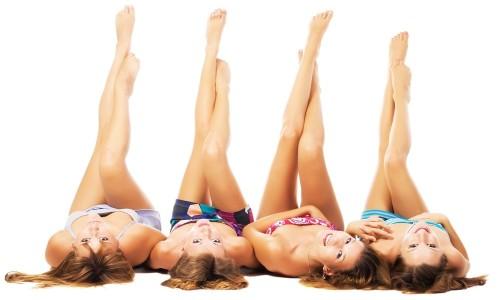 Гладкие ноги у девушек